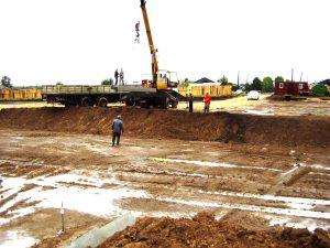 Начало строительства ( июнь 2013 г.)
